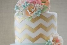 Wedding Cake - Chevron / Chevron Wedding Cakes