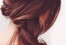Hair inspiration / Haircut & updo