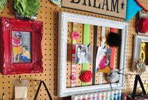 Craft room ideas / by Sandy Jackson
