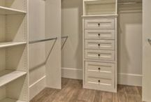 Master Closet Organization / Ideas for ways to organize master bedroom closet