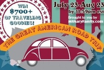 Great American Road Trip Giveaway / MilitaryFamily.com presents our Great American Road Trip Giveaway! Going on until 8.23.12!
