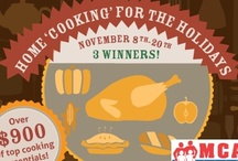 Home 'Cooking' For The Holidays Giveaway / MilitaryFamily.com presents our Home 'Cooking' for the Holidays Giveaway for all military families! Listing all the cooking products in our giveaway and sponsors! While providing tips and tricks cooking and the holidays! Going on 11/8-11/20