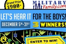 'Let's Hear It For The Boys!' Giveaway / MilitaryFamily.com presents our 'Let's Hear It For The Boys!' Giveaway. We're giving back and showing our appreciation to our soldiers' this holiday season with top of the line electronics and accessories! Also including pins on crafts and tips on how you can spend this years holiday with you solider! Going on 12/5-12/31