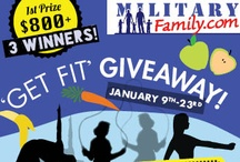 'Get Fit' Giveaway / Let MilitaryFamily.com help you keep your New Year's Resolution with our 'Get Fit' Packs! Going on from 1/9-1/23