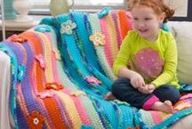 Crochet One-Piece Afghans/Blankets / by Linda