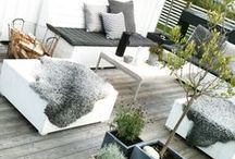 Roof Terraces / Collection of photos giving inspiration for a roof top terrace on a summer house's flat roof.