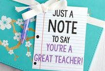 Teacher Gift Ideas / Ideas for simple and touching gifts for Teacher Appreciation Week.