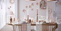 ▲ Table de Noël blog / table de noel, cuivre, bois, blanc
