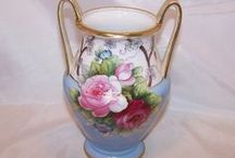 Flower Fancy / Vases, planters, flower frogs, and flowers in art form