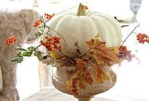 Fall and Autumn / Inspiration for enjoying the beauty of Fall. Gorgeous colours, textures, and scents. Warmer layers in jeans, boots and sweaters. Crisp morning walks on the leaves and cooler evenings enjoying a warm drink near a crackling fire. Pumpkins, wheat, and scented candles added to our decor. Oh the joy of Autumn.