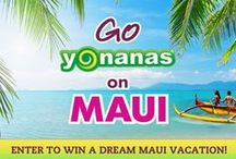 Go Yonanas on Maui / CONTEST HAS ENDED. Thanks to everyone who participated!   Here's your chance to Go Yonanas on Maui. Enter to win a dream Maui vacation for 2 - including 5 nights at Napili Kai Beach Resort on Maui, round-trip airfare, daily breakfast & an outrigger canoe trip. Contest runs 11/8/14 - 12/21/14.  / by Yonanas