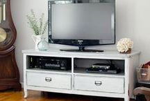 Furniture Painted TV Stands and Media Cabinets / Ideas for painted and repurposed TV stands and Media Cabinets.