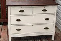 Furniture Painted Dressers and Night Tables / Painted dressers, chest of drawers, bureaus, night tables, nightstands, and armoires.