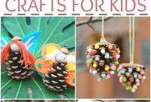 Garden Crafts for Kids / Get your kids in the garden creating ideas to brighten up the garden!