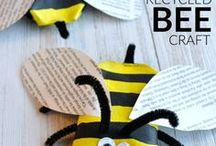 Mini Beast Crafts For Kids / Kids will love creating Mini Beasts. Easy crafts for Kids to do. Kids can learn from the different beasts around, and turn them into a craft!!