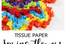 Tissue Paper Crafts for Kids / Create so many crafts with Tissue paper. This board will show you what you can create. Easy Crafts for Kids!!