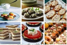 Wedding Appetizers / Ideas for appetizers on your Wedding day!
