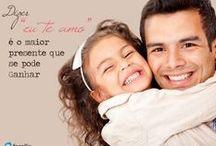 Eu ♥ Dia dos Pais / Demonstre o carinho por seu pai. Aqui você encontrará frases e tudo mais relacionado aos Papais. ♥