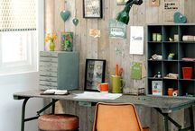 Working spaces ♥ Oktoberdots / Great ideas for a cool and usefull workplace with no space wasted!