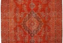 Over-dyed Rugs / Over-dyed Turkish vintage area rugs created by first neutralizing the colors and then over-dying to achieve a contemporary effect and bring old hand-made rugs back to life.