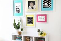 HOME | Walls / Decor for your walls.  Ideas, products, DIY projects, and more. Home, DIY, decor, home decor, decorations, wall decor, decorate your walls, wall art, murals, paint, accent walls, gallery wall, photos, pictures, frames, shelving, shelves, how to decorate walls, etc.