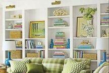 Bookcase & Mantel Arrangements