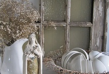 Home-Old Window Frame Ideas (and things for my mantle) / by Madeline Fox