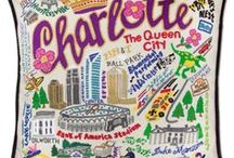 Embroidered Pillows - City & Regions / Amazing Hand Embroidered Pillows of great cities and regions. Look for places where you grew up, went to school or vacationed!