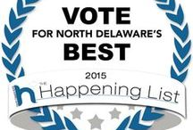 "THE HAPPENING LIST / 2nd Annual North Delaware Happening List the ""Most Happening"" people's choice voting contest centric to New Castle County, North Delaware. Thousands of amazing LOCAL people, places, events, and businesses were nominated across 11 comprehensive categories ranging from ""Food & Drink"" to ""Home Improvement"" to ""Everything North DelaWHERE."" Voting ended on February 28, 2015."