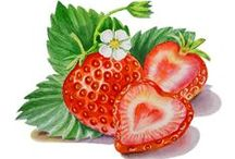 Strawberry Love / Strawberry art, pottery, paintings, strawberry recipe, growing strawberries