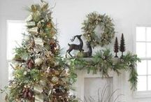 Woodland Christmas / Woodland Victorian Christmas decorating, vintage, natural, pine cones, grapevine, honeysuckle, moss, burlap, velvet, dried flowers and foliage, brown, champage, copper, mint, sage, lime, spa, turquoise, aqua, lavender, purple, orchid, plum