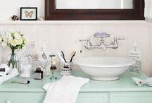 Bathing Beauties / Bathroom and powder room decorating and design ideas, bathroom storage ideas