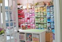 Fabric Storage / Storage ideas for the sewing studio, large or small it helps to stay organized!