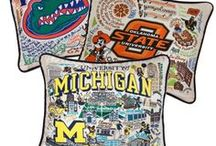 Collegiate Pillows / Colorfully embroidered pillows of great colleges and universities.