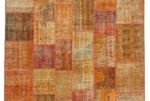 Over-dyed Patchwork Rugs / Over-dyed patchwork rugs created by first neutralizing the colors and then over-dying to achieve a contemporary effect and bring old hand-made rugs back to life. The result is almost like an abstract painting. The rugs are backed with cotton cloth as reinforcement. We can also custom make patchwork rugs with your color and size requirements.
