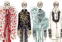 Sketch Book Ideas: Fashion / Croquis and Fashion Illustration  / by Leah Hoffman