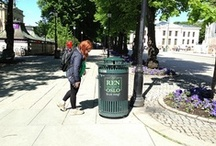 The campaign for a cleaner city / Clean city. Show us your love, use me.
