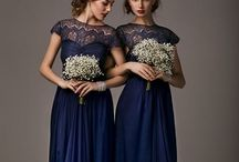 Bridesmaid Dresses / Colors? I'm thinkin' a rich, dark Forest Green, Navy, or Indigo... / by Kelly Fletcher