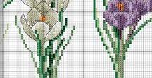 Keresztszemes virágok / Leszámolható keresztszemes virágminták