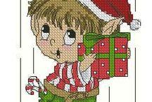 Karácsonyi keresztszemesek / leszámolható keresztszemes minták