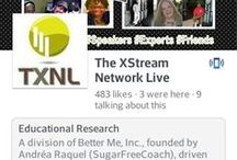 TXNL / The Xstream Network Live (TXNL) is the network of Better Me, Inc. founded by Andrea Raquel (TSE). This list is honoring, acknowledging and connecting mentors, supporters, contributors, friends and do-gooders http://thenetworklive.com. Mission: Helping you improve your community, business and lifestyle one solution at a time. Social entrepreneurs are experienced in their field and catalysts for change. TXNL is a network of entrepreneurs who are intereseted in social responsibility.  / by Andréa Raquel