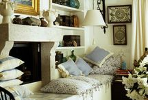 Fireplaces & Mantels: new construction & don't forget to change it up every once & awhile / by Eclectic Domestic ~ Caren Berry