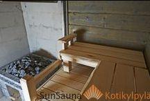 Savusauna Sun Sauna / Sun Sauna, savusauna, haapalaude, smoke sauna, röka bastu, pihasauna, Hand made sauna