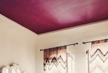 Painted Ceilings / Ideas of painted ceilings that inspire you to take your room from drab to fab !