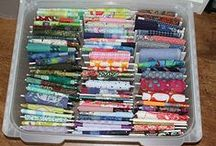 My Sewing room / My sewing room and fabric storage.