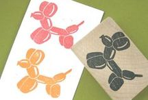 Rubber stamping & printing crafts/ideas