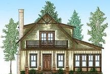 Cute Craftsman Bungalows / I want to build a house when I retire. We have special needs kids, so they'll probably need a place to live. Upstairs. The kitchen cannot be in the living room. And we'll need a garage, since it'll probably be in upstate NY.