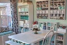 Organized Craft or Sewing Room / How to corral all those tiny craft and sewing supplies so they don't take over your available space. Learn from organizers and other crafters what has worked best for them.