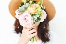 i do \\ flowers / bouquets & table arrangements  / by Jo W