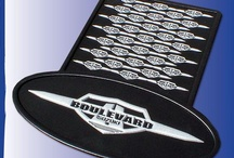 Custom motorcycle kickstand pads / USA made custom kickstand pads for events, clubs, retail shops. Our tough ABS plastic will not crack like the orient parts that are being sold in the marketplace.